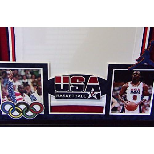 san francisco b49d3 83f1c Michael Jordan Framed Olympic Jersey Signed UDA UpperDeck ...