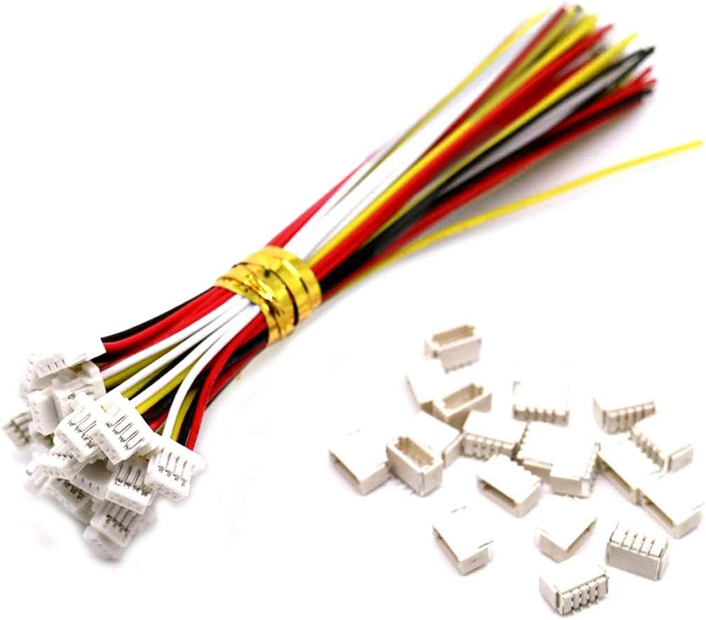 Amazon.com: 20 Sets Mini Micro Sh 1.0 Jst 4-Pin Connector Plug Male with  150mm Cable & Female: Home Audio & Theater