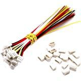 20 Sets Mini Micro Sh 1.0 Jst 4-Pin Connector Plug Male with 150mm Cable & Female