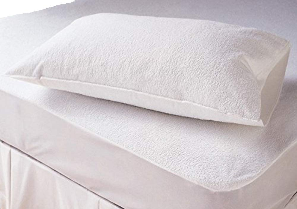Comfortnights Terry Towelling Waterproof Zipped pillow protector 50x70cms Shellmark