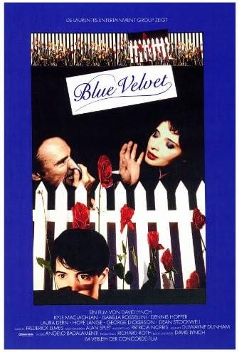 Amazon.com: Blue Velvet 27 x 40 Movie Poster - Style A: Lithographic Prints:  Posters & Prints