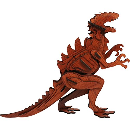 Dinosaur 3D Puzzle - Rosewood Color - Rosewood Puzzles Inc. - Fun Mind-Challenging 3D Puzzle!