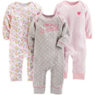 [Sponsored]Simple Joys by Carter's Baby Girls' 3-Pack Jumpsuits