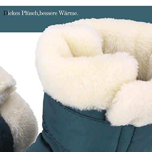 Sibba Lauflernschuhe Babyschuhe Krabbelschuhe, mit wasserdichte Material und ruschfeste Sohle für Mädchen und Jungen Blau