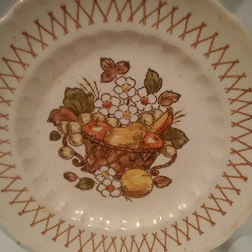 Vernon Ware Metlox Salad Plate, Metlox Fruit Basket 7-1/2 inch Salad Plate