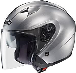 HJC Helmets IS-33 Helmet (Light Silver, X-Large)