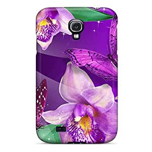 Galaxy S4 Case Slim [ultra Fit] Orchid Butterfly Dance Protective Case Cover