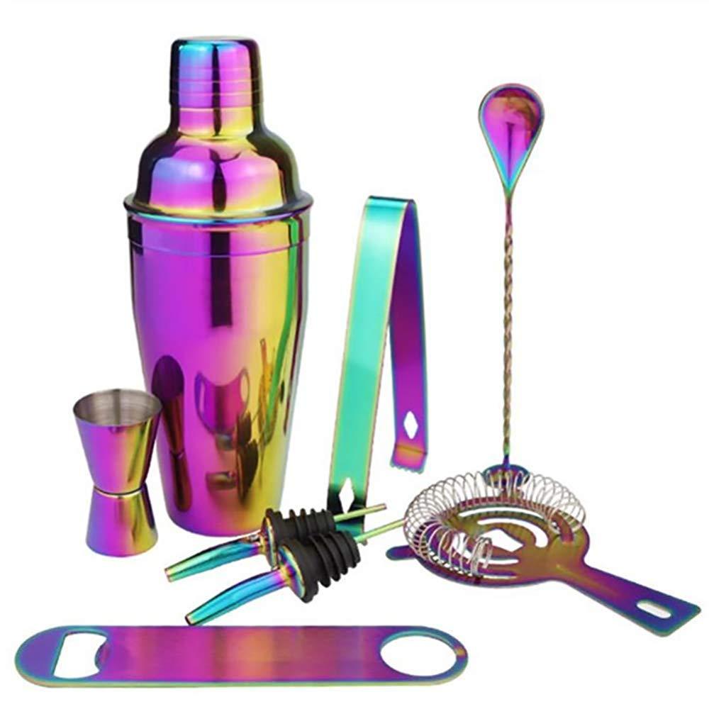 Colorido Acero Inoxidable Cobre Profesional Bartender Kit-8pcs YANQ Conjunto De Cocteler/ía