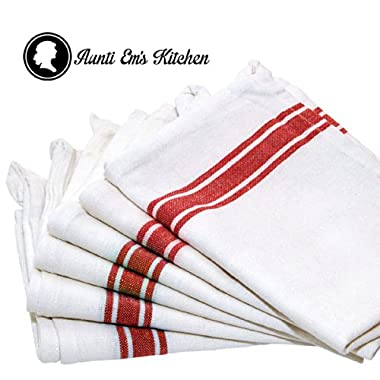 Kitchen Dish Towels with Vintage Design Decor Super Absorbent 100% Natural Cotton Kitchen Towels (Size: 25.5