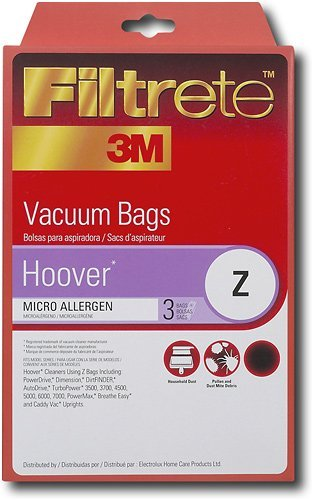 Hoover Z MicroAllergen Bags, 3 Bags Per Pack, by Filtrete