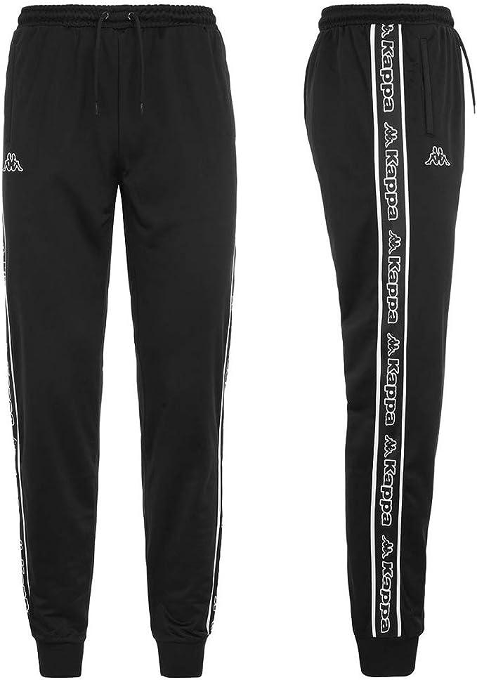 Kappa Pantalón de chándal para Hombre Tela Negra 304M5W0-908