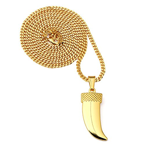 tuvw-gold-plating-wolf-tooth-mens-fashion-pendant-necklacebig