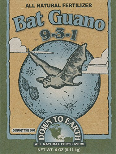 Down To Earth 17886 9-3-1 Bat Guano Fertilizer Mix, 1/4 - Guano Bat