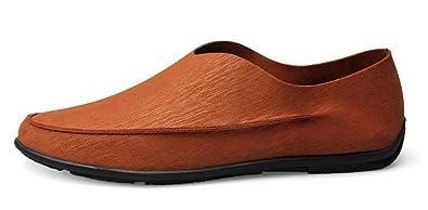 SHOWHOW Herren Bequem Halbschuhe Loafers Verschlusslos Slippers Schwarz 41 EU Up0cEP