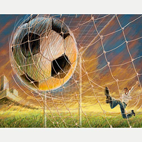 Obert Fieldin 5D DIY Diamond Painting Set Football Square Drill Diamond Embroidery Paintings Pictures for Living Room ()