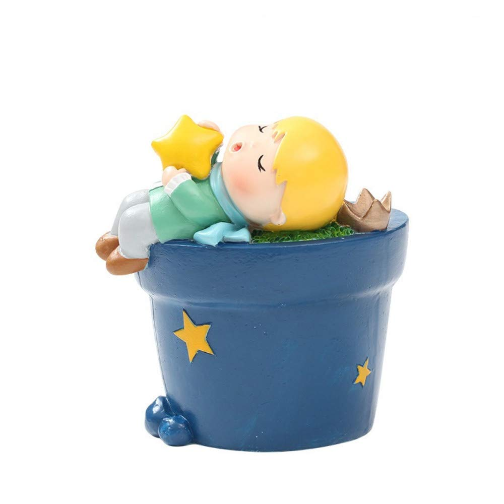 4 JIAHUADE Cartoon Fairy Tale Little Prince Creative Crafts Resin Fleshy Flower Pot Planting Gifts,4