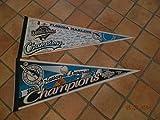 2 Different 1997 Florida Marlins World Series Championship Baseball Pennants