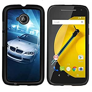 E90 Coupe Bimmer- Metal de aluminio y de plástico duro Caja del teléfono - Negro - Motorola Moto E2 / E(2nd gen)