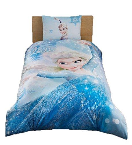 Frozen Elsa Glitter %100 Cotton Girl's Kid's Duvet/Quilt Cover Set Single / Twin Size Kids Bedding