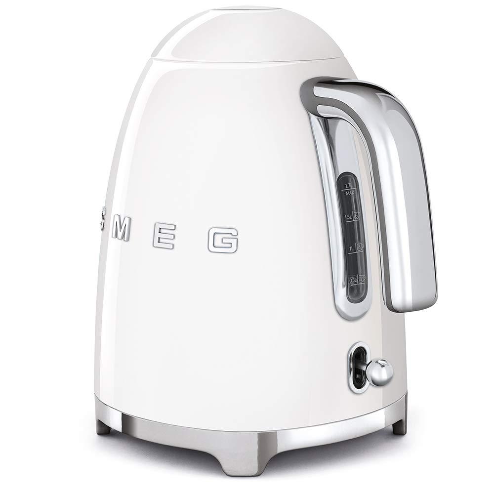 SMEG Calentador de Agua electrico, hervidor KLF03WHEU, 2400 W, 1.7 litros, Acero Inoxidable, Blanco: Amazon.es: Hogar