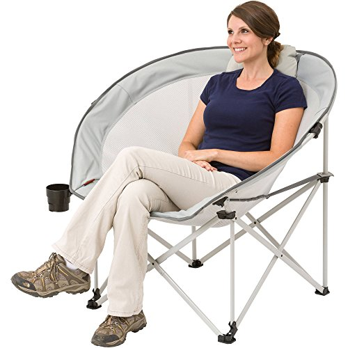 New! Ozark Trail Oversized Cozy Camping Chair includes Carry Bag with Carry Strap best to buy