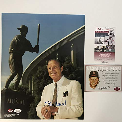 - Autographed/Signed Stan Musial St. Louis Cardinals 11x14 Baseball Photo JSA COA