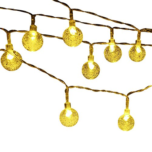 String Lights With Covers : Cmyk Battery Operated 40 LED String Light with Crystal Ball Covers, Ambiance Lighting, Great ...