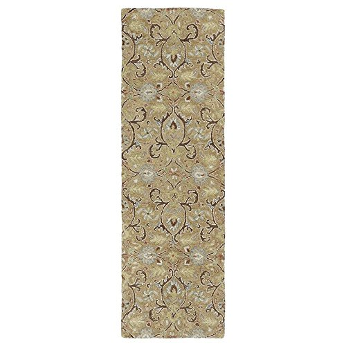 "Kaleen Rugs 2'6"" x 12', Gold for sale  Delivered anywhere in USA"