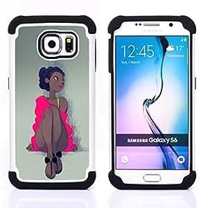 For Samsung Galaxy S6 G9200 - PINK DRESS LATINA WOMAN GIRL DANCER Dual Layer caso de Shell HUELGA Impacto pata de cabra con im??genes gr??ficas Steam - Funny Shop -