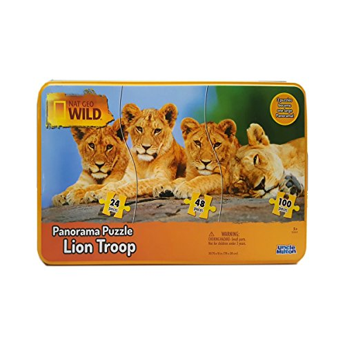 Nat Geo Wild Panorama Puzzle Lion Troop