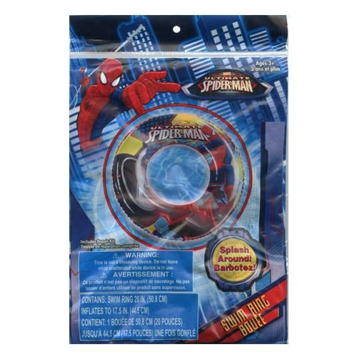 Marvel Spider-Man Inflatable Swim Summer Fun Package Deal (Floaties, Beach Ball, Swim Ring, Mallet, Sword, Raft) by Marvel (Image #2)
