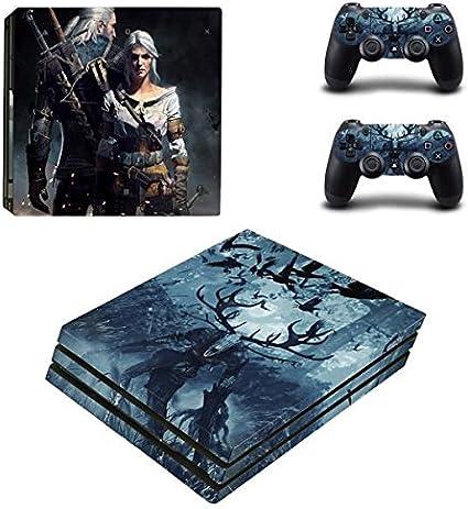 Playstation 4 Pro + 2 controlador Diseño Sticker Protector Juego – The Witcher/PS4 P: Amazon.es: Videojuegos