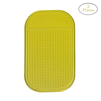 Mirrors Transer Silica Gel Magic Non Slip Mat Car GPS and many more can Stick to Glass Mobile Phone Kitchen Cabinets or Tile Anti-Slip Sticky GEL Pad 10, Black Metal