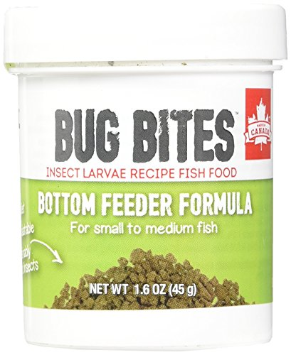 Fluval A6586 Bug Bites Bottom Feeder Granules 1.59 oz, Small to Medium Fish