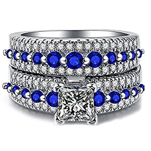 Women's Platinum Plated Stainless Steel Band Ring - 5.5 US