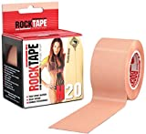 Rocktape Kinesiology Tape for Athletes, H2O Beige, 2