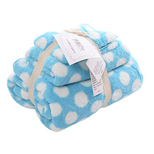 Zhenxinmei 3 Pack Microfiber Towels Set - Includes 1 Hand Towel ,1 Face Towel ,and 1 Bath Towel Washcloth Soft Coral Fleece Luxury Hotel Towel Sets Super Absorbent Body Towel (Baby Money Bag Costume Pattern)