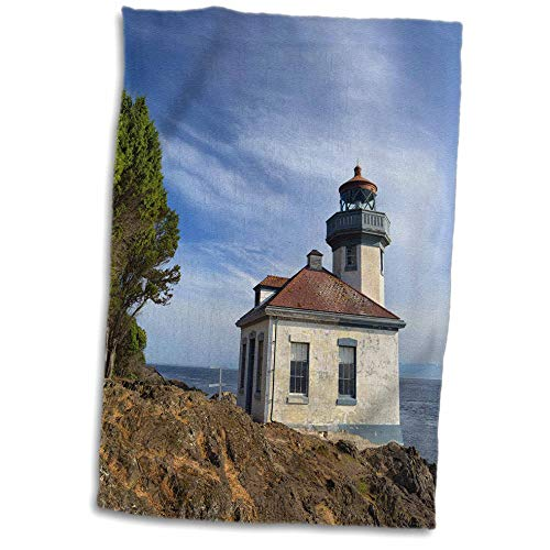 3dRose Danita Delimont - Washington - USA, Washington State, San Juan Island, Lime Kiln Point Lighthouse. - 15x22 Hand Towel (twl_315158_1)