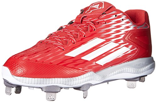 Image of the adidas Men's PowerAlley 3-M, Power Red/White/Grey Metallic, 8.5 M US
