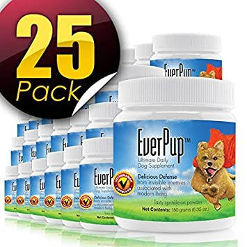 Functional Nutriments 25 Pack- Everpup Ultimate Daily Supplement para perros con glucosamina, prebióticos,