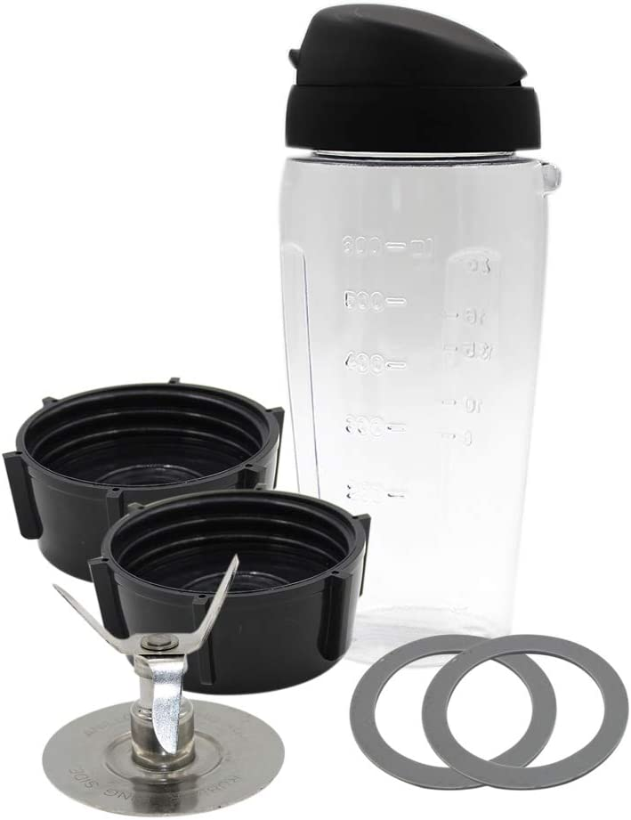 Anbige Replacement parts Cups with Blade and lid Blend-N-Go Smoothie Kit,for Oster Blender