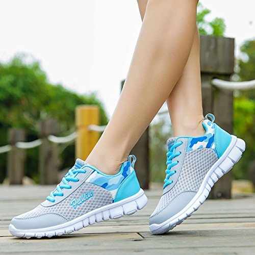 Sneaker Saingace Fitness Women's Sport Mesh Walking for Shoes Outdoor Hiking Shoe Breathable Blue Gym Flats Jogging SSxwO8qrd