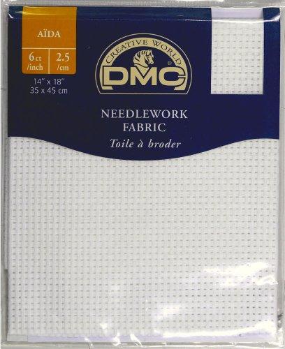 DMC Stoffe Aida 2.5/cm -Weiß - 100% Baumwolle - 35 x 45cm