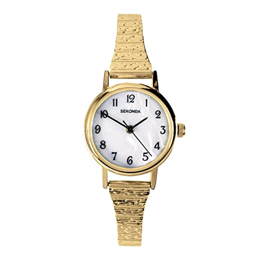 7af039f080bd Sekonda Ladies Quartz Watch with Mother Of Pearl Dial Analogue Display and  Gold Stainless Steel Plated Bracelet 4677.27: Sekonda: Amazon.co.uk: Watches