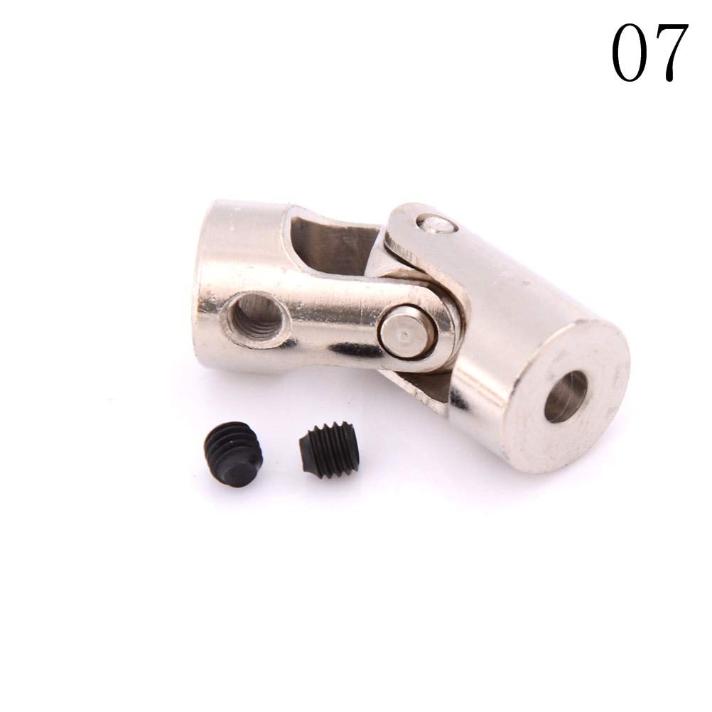 Inner Diameter: 2 Point 3 to 4mm Fevas 1PCS 2//2.3//3//3.17//4mm Car Boat Model Universal Coupler Joint Coupling Steel Shaft Connector Crossing 8 Styles Shaft to Shaft