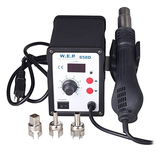 Kohree 110V LED Digital 858D SMD Hot Air Rework Station Solder Blower Heat Gun