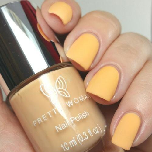 Pretty Woman CERAMIC Nail Polish Dries With A Matte Finish Salon Quality VEGAN (Tangerine)