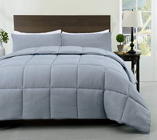 Cozy Beddings S1602-3Q Super/Blue Super Queen 3Pc Comforter Set Stone Blue,Queen