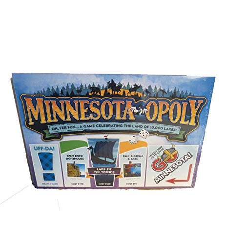 Minnesota Opoly Board Game UFF-da Hockey Paul Bunyan Lake -