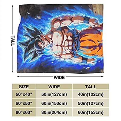 Luxury Ultra-Soft Micro Blanket Light Weight Master_Saiyan_Goku Carpet Living Room/Bedroom Comfortable Memory Recovery Blanket Soft Small Quilt 50